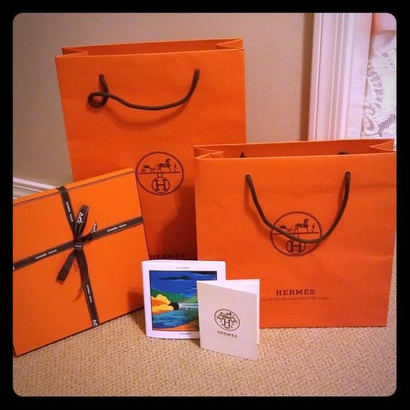 Hermes Handbags - Hermes small and medium bag with scarf box